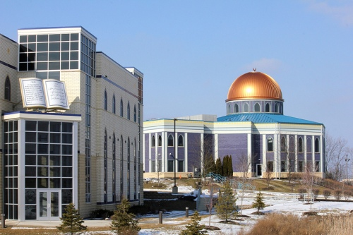 The Prayer Center mosque in Orland Park was built in 2004 to accomodate the region's growing Muslim community.